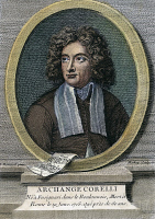 0031568 © Granger - Historical Picture ArchiveARCANGELO CORELLI   (1653-1713). Italian violinist and composer: French engraving, 18th century.