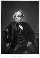 0043874 © Granger - Historical Picture ArchiveRICHARD COBDEN (1804-1865).   English politician and economist. Mezzotint, American, 19th century.