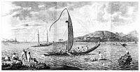 0003117 © Granger - Historical Picture ArchiveCOOK'S FIRST VOYAGE, 1773.   The Natives of Tahiti. Line engraving, 1773, from Captain James Cook's Account of a Voyage Round the World in the Years 1768-71.