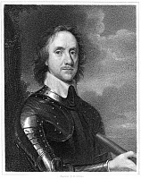 0002957 © Granger - Historical Picture ArchiveOLIVER CROMWELL (1599-1658).   Lord Protector of England (1653-1658). Steel engraving after the painting by Robert Walker.