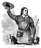 0036094 © Granger - Historical Picture ArchiveDAVY CROCKETT (1786-1836).   American frontiersman. Wood engraving, 1883.