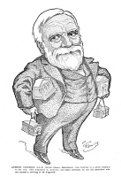 0017337 © Granger - Historical Picture ArchiveANDREW CARNEGIE (1835-1919).   American industrialist. Caricature, 1902, by Thomas Fleming.