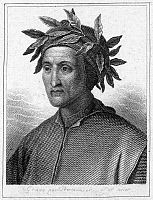0004815 © Granger - Historical Picture ArchiveDANTE ALIGHIERI (1265-1321).   Italian poet. Steel engraving, French, 19th century.