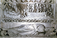 0117304 © Granger - Historical Picture ArchiveDAGOBERT I (c603-639).   Merovingian king of Austrasia, all the Franks, 629-634, and of Neustria and Burgundy, 629-639. King Dagobert's tomb, 13th century, at the abbey church of St. Denis, which he founded.