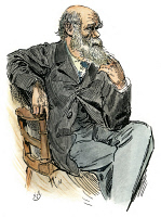 0061774 © Granger - Historical Picture ArchiveCHARLES DARWIN (1809-1882).   English naturalist: drawing by Harry Furniss.