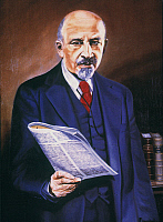 0037856 © Granger - Historical Picture ArchiveWILLIAM E.B. DU BOIS   (1868-1963). American educator, editor, and writer. Painting by Frederick J. Campbell.