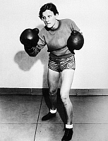 0170313 © Granger - Historical Picture Archive'BABE' DIDRIKSON ZAHARIAS   (1911-1956). Née Mildred Ella Didrikson. American athlete. In training as a boxer, warming up at Art McGovern's Gym in New York City, 1933.