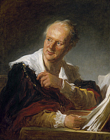 0053698 © Granger - Historical Picture ArchiveFRAGONARD: MAN, c1769.   An unknown man leafing through a large volume, formerly identified as the encyclopedist and philosopher Denis Diderot. Oil on canvas, c1769, by Jean-Honoré Fragonard.