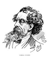 0014889 © Granger - Historical Picture ArchiveCHARLES DICKENS (1812-1870).   English novelist. Pen-and-ink drawing by Harry Furniss (1854-1925).