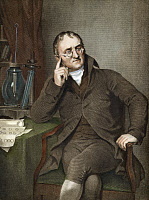 0008010 © Granger - Historical Picture ArchiveJOHN DALTON (1766-1844).   English chemist and physicist. Line engraving, 19th century.