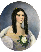 0071440 © Granger - Historical Picture ArchiveMARIE DUPLESSIS (1824-1847).   Assumed name of Alphonsine Plessis. French courtesan, the prototype of Marguerite Gautier in 'La Dame aux camelias' by Dumas fils. After a painting by Édouard Vienot.