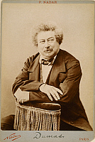 0044279 © Granger - Historical Picture ArchiveALEXANDRE DUMAS THE ELDER   (1802-1870). French novelist and playwright. Original cabinet photograph by Nadar.