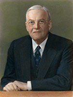 0056994 © Granger - Historical Picture ArchiveJOHN FOSTER DULLES   (1888-1959). American lawyer and diplomat. Oil over a photograph, 1953.