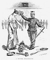 0089277 © Granger - Historical Picture ArchiveDREYFUS AFFAIR, 1899.   'A Second Degradation.' American cartoon, 1899, by W.A. Rogers, expressing anger over the second conviction of Alfred Dreyfus in September 1899.