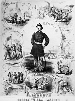 0130164 © Granger - Historical Picture ArchiveELMER EPHRAIM ELLSWORTH   (1837-1861). American laywer and soldier. Engraved song sheet cover for a requiem composed by George William Warren in honor of Ellsworth, who was the first notable Northern fatality of the Civil War on 24 May 1861.