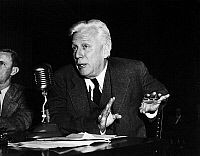 0170042 © Granger - Historical Picture ArchiveMAX EASTMAN (1883-1969).   American editor, writer, and political activist. The one-time radical testiftying before the U.S. House Committee on Foreign Affairs on the threat posed by the Soviet government, 7 May 1948.