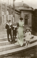 0324920 © Granger - Historical Picture ArchiveELISABETH OF BAVARIA   (1876-1965). Queen consort of Belgium. Photographed with her children, Leopold III; Prince Charles Count of Flanders; and Marie-José, c1910.