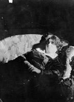 0622080 © Granger - Historical Picture ArchiveEMMA ECKSTEIN (1865-1924).   Austrian author and patient of Sigmund Freud. Reclining on a sofa. Photograph, c1920.