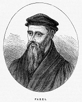 0168929 © Granger - Historical Picture ArchiveGUILLAUME FAREL (1489-1565).   French Reformation leader. Wood engraving, 19th century.