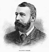 0266002 © Granger - Historical Picture ArchiveAUGUSTIN FORGET, 1891.   American businessman and agent for the French Steamship Line. Engraving, American, 1891.