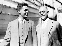 0268767 © Granger - Historical Picture ArchiveIRVING FISHER (1867-1947).   American economist. Photographed with his son, Irving Norton Fisher, 1927.