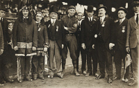 0324815 © Granger - Historical Picture ArchiveBOSTON: WORLD SERIES.   Boston Mayor John Francis 'Honey Fitz' Fitzgerald (third from right) with Boston Braves pitcher Hank Gowdy, team owner James Gaffney, and others on the opening day of the 1914 World Series.