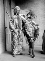 0526785 © Granger - Historical Picture ArchiveFREYTAG-LORINGHOVEN, c1925.   German artist Baroness Elsa von Freytag-Loringhoven and Jamaican-American poet Claude McKay in costume. Photograph, c1925.