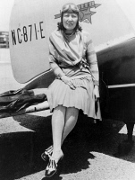 0621751 © Granger - Historical Picture ArchiveCLAIRE FAHY (1899?-1930).   American aviator. Fahy photographed in front of her airplane, 1929.