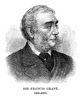 0265106 © Granger - Historical Picture ArchiveSIR FRANCIS GRANT   (1803-1878). Scottish painter and president of the Royal Academy, 1866-1878. Engraving, English, 1896.