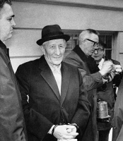0324956 © Granger - Historical Picture ArchiveCARLO GAMBINO (1902-1976).   American (Italian-born) mobster. Photographed after being arrested by the FBI in Brooklyn, New York, 23 March 1970.