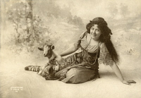 0526511 © Granger - Historical Picture ArchiveBERTHA GALLAND (1876-1932).   American actress. As Esmeralda in 'The Hunchback of Notre Dame.' Photographed by J.B. Falk, 1902.