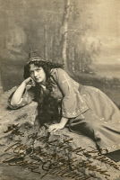0526512 © Granger - Historical Picture ArchiveBERTHA GALLAND (1876-1932).   American actress. As Isoult the Desirous in 'The Forest Lovers.' Photograph, c1901.