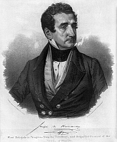 0169643 © Granger - Historical Picture ArchiveJOSEPH MARION HERNANDEZ   (1793-1857). American general and politician. 'First delegate to Congress from the territory, and brigadier general of the militia of Florida.' Lithograph by Charles Fenderich, c1853.