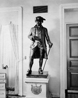 0174213 © Granger - Historical Picture ArchiveJOHN HANSON (1721-1783).   American merchant, politician and President of the Continental Congress, 1781-82. Bronze statue by Richard Brooks, 1903, at the United States Capitol Building in Washington, D.C.