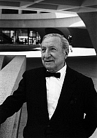 0174903 © Granger - Historical Picture ArchiveJOSEPH HIRSHHORN (1899-1981).   American entrepreneur, financier and art collector and founding donor of the Hirshhorn Museum and Sculpture Garden in Washington, D.C. Photographed at the museum, c1974.