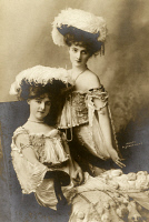 0526724 © Granger - Historical Picture ArchiveTHE HENGLER SISTERS, c1895.   American dancers. May (1880-1952) and Flora (1882-1965). Photograph, c1895.