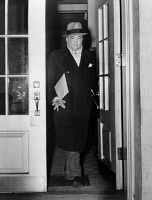0621644 © Granger - Historical Picture ArchiveJOHN EDGAR HOOVER   (1895-1972). American lawyer and public official. Exiting the White House. Photograph, 29 January 1942.