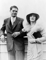 0623534 © Granger - Historical Picture ArchiveOSCAR HAMMERSTEIN   (1895-1960). American theatrical producer, with his wife Dorothy, as they arrived in New York City from Europe on the S.S. Majestic. Photograph, 1929.