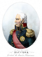0077217 © Granger - Historical Picture ArchiveGEBHARD L. von BLUCHER   (1742-1819). Prussian field marshal. Colored line engraving, French, early 19th century.