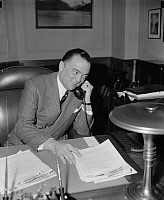 0115329 © Granger - Historical Picture ArchiveJOHN EDGAR HOOVER   (1895-1972). American lawyer and public official. Photographed in his office as Director of the F.B.I., April 1940.
