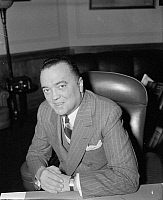 0115330 © Granger - Historical Picture ArchiveJOHN EDGAR HOOVER   (1895-1972). American lawyer and public official. Photographed in his office as Director of the F.B.I., 5 April 1940.