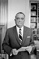 0115332 © Granger - Historical Picture ArchiveJOHN EDGAR HOOVER   (1895-1972). American lawyer and public official. Photographed by Marion S. Trikosko, 1961.