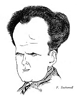 0266802 © Granger - Historical Picture ArchiveSERGEI EISENSTEIN (1898-1948).   Russian motion-picture director. Caricature drawing, American, 1936.