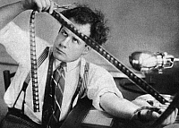 0266803 © Granger - Historical Picture ArchiveSERGEI EISENSTEIN (1898-1948).   Russian motion-picture director. Editing his first film, 'Strike,' in 1924.