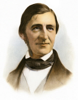 0070790 © Granger - Historical Picture ArchiveRALPH WALDO EMERSON   (1803-1882). American philosopher and man of letters. Lithograph, American, 1859.