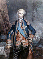 0049593 © Granger - Historical Picture ArchiveJEAN-BAPTISTE D'ESTAING   (1729-1794). Comte Jean-Baptiste-Charles-Henri-Hector d'Estaing. French naval commander. Aquatint, c1780, by P. Frieselhem.