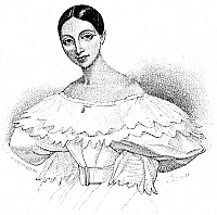 0084761 © Granger - Historical Picture ArchiveFANNY ELSSLER (1810-1884).   Austrian dancer. Contemporary engraving.