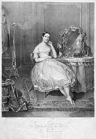 0129358 © Granger - Historical Picture ArchiveFANNY ELSSLER (1810-1884).   Austrian dancer. Lithograph by George Endicott after a painting by Henry Inman, c1841.