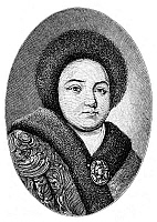 0035254 © Granger - Historical Picture ArchiveEUDOXIA LOPUKHINA (1669-1731).   First wife of Czar Peter the Great of Russia. Line engraving.