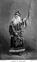 0046185 © Granger - Historical Picture ArchiveEDWIN FORREST (1806-1872).   American actor. Forrest in the title role of William Shakespeare's 'King Lear.' Wood engraving, late 19th century, after a photograph by Mathew Brady.